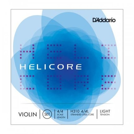 D'Addario Helicore Violin String Set, 4/4 Scale, Light Tension