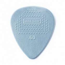 Dunlop Max Grip Standard Nylon.60mm Grey Guitar Picks 12-Pack
