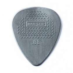 Dunlop Max Grip Standard Nylon.88mm Grey Guitar Picks 12-Pack