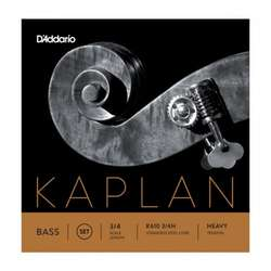 D'Addario Kaplan Bass String Set, 3/4 Scale, Heavy Tension