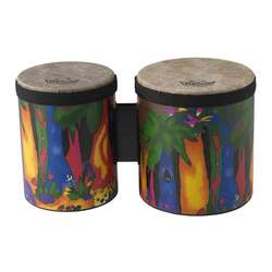 "Remo Kids Percussion Bongo 5"" & 6"" Fabric Rain Forest"