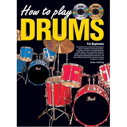 How To Play Drums For Beginners Book/CD/DVD