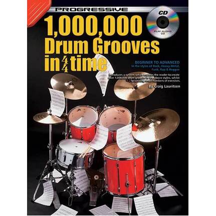 Progressive 10,000 Drum Grooves In 4/4 Time