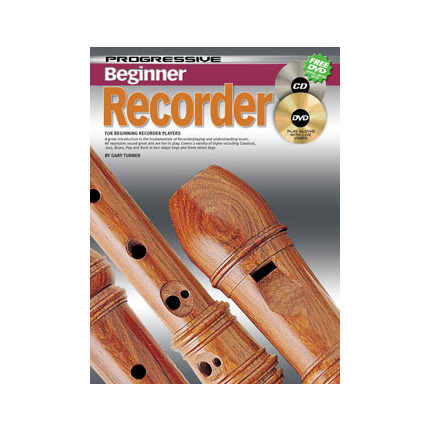 Progressive Beginner Recorder Bk/Cd/Dvd 69128