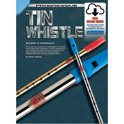 Progressive Tin Whistle Book/Online Media