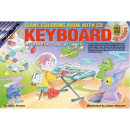 Progressive Keyboard Bk 1 For Young Beginners Giant Colouring Book