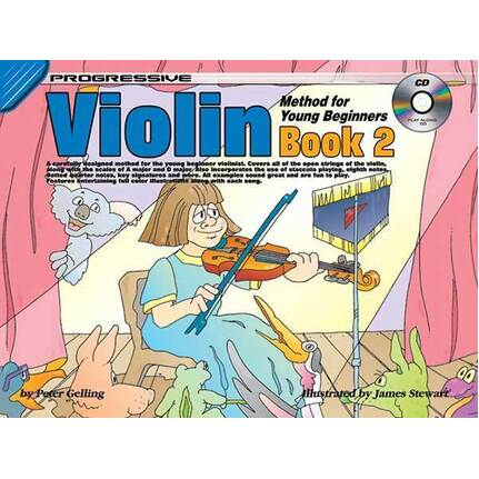 Progressive Violin Method Bk 2 For Young Beginners