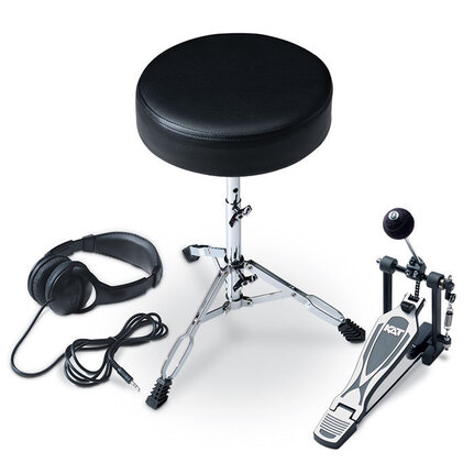 KAT Electronic Drums Accessory Expansion Kit With Throne, Pedal, Headphones
