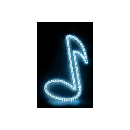 MBT Musical Note Shaped Rope Lighting In Red
