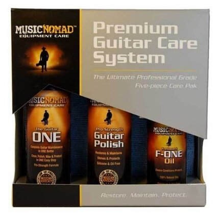 Music Nomad Mn108 Premium Guitar Care Kit 5-Pce Pack