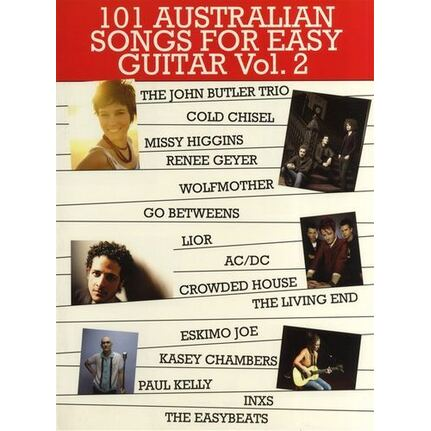 101 Australian Songs for Easy Guitar Book 2