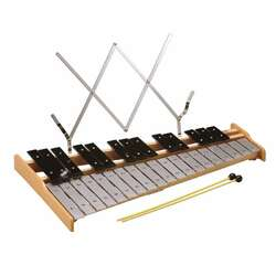 Opus Percussion OPBL32 32-Note Glockenspiel w/Music Holder & Beaters