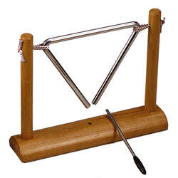 "Opus Percussion OPTC06S 6"" Triangle On Wooden Stand w/Striker"