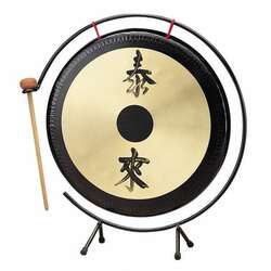 "Opus Percussion 12"" Gong w/Stand and Mallet"