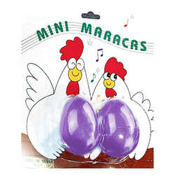 Opus Percussion OSC48 Chicken Egg Mini Maracas in Assorted Colours (1 Pair)