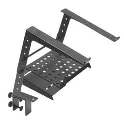 On Stage OSLPT6000 Multi-Purpose Laptop / Tablet Stand with 2nd Tier Black Finish