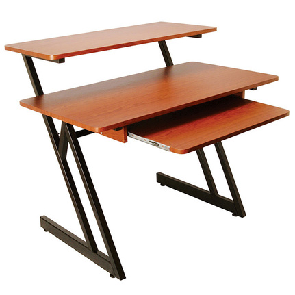 On Stage Osws7500Rb Wooden Workstation In Rosewood & Black