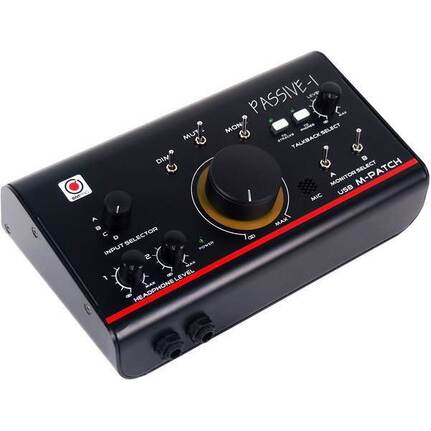 SMPRO Audio M-Patch Passive-1: Precision Monitor Control Plus Studio Talkback and USB Audio I/O