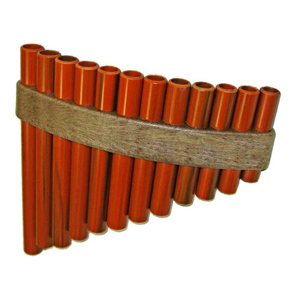 Opus Percussion PF12B 12-Hole Handmade Pan Flute w/Storage Cover