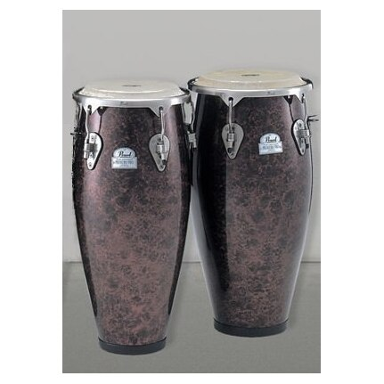 Pearl Primero Pro Fiber Conga Set 10 & 11-inch Without Stands Wine Red Marble Finish