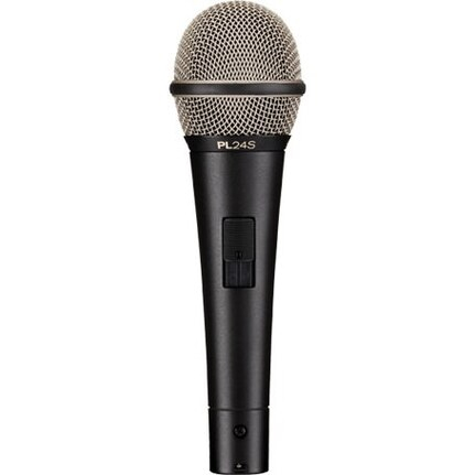 Ev Pl24S Vocal Microphone, Dynamic, Cardioid, On/Off Switch