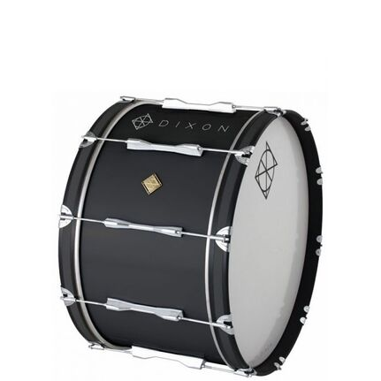Dixon Wood Marching Bass Drum Black 18 x 14""