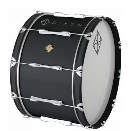 Dixon Wood Marching Bass Drum Black 24 x 14""