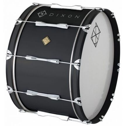 Dixon Wood Marching Bass Drum Black 26 x 14""
