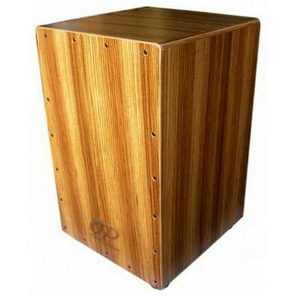 Opus Percussion Wooden Cajon Zebrawood w/Deluxe Carry Bag