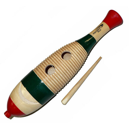 Percussion Plus Large Wooden Fish Shape Guiro in 3-Tone Finish
