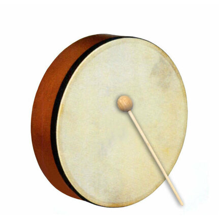 "Percussion Plus 8"" Handheld Frame Drum w/Wooden Beater"