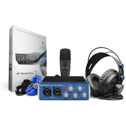 PreSonus AudioBox USB 96 Studio Bundle with M7 Mic & HD7 Headphones