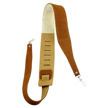 "Perris PS6696 2.5"" NATURAL SUEDE BANJO STRAP WITH METAL HOOKS"