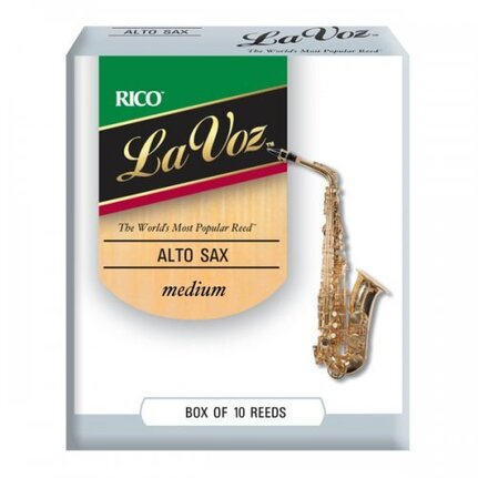 La Voz Alto Sax Reeds, Strength Medium, 10-pack
