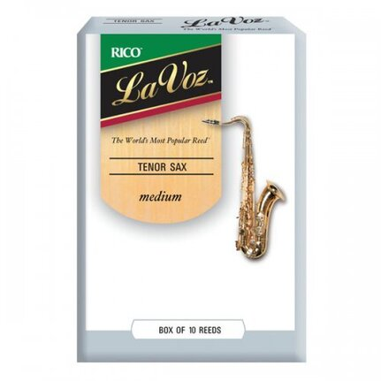 La Voz Tenor Sax Reeds, Strength Medium, 10-pack