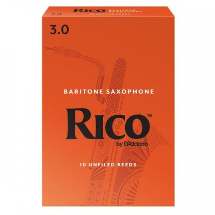 Rico Baritone Sax Reeds, Strength 3.0, 10-pack