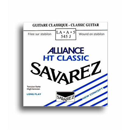 Savarez 545J Alliance HT Classic High Tension (A-5th) Single Classical Guitar String
