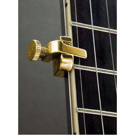 Shubb SHUBBFSGOLD Fifth String Regular Bar Banjo Capo In Gold