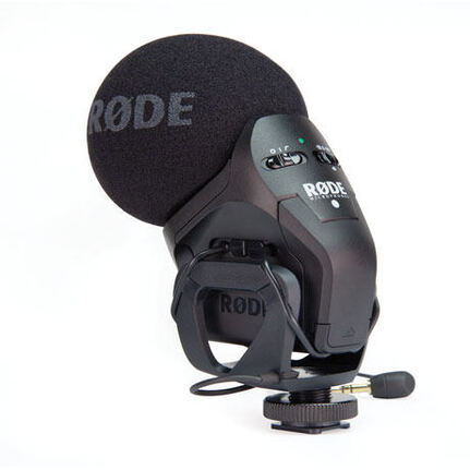 Rode Stereo Videomic Pro XY Stereo Condenser Microphone Integrated Shockmount, Hpf And Level Control  Connect Directly To Consumer Video Cameras And D