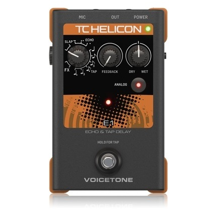 TC-Helicon Voicetone E1 Echo & Tap Delay Vocal Effects Processor
