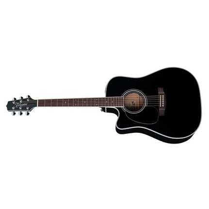 Takamine TEF341SCLH Legacy Dreadnought Acoustic-Electric Left Hand Guitar With Pickup Black Finish
