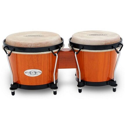 Toca Synergy 6 & 6-3/4-Inch Wood Bongos In Amber