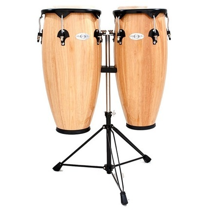 Toca Synergy 10 & 11-Inch Conga Set With Stand In Natural Finish
