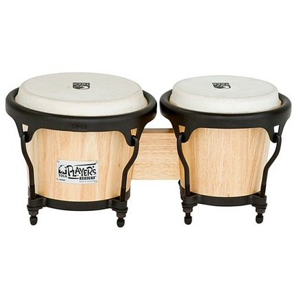 "Toca Players Series  5-1/2 & 7"" Wood Bongos In Natural Finish 2400N"
