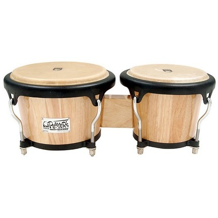 "Toca Players Series 7 & 8-1/2"" Wood Bongos  In Natural Finish 2700N"