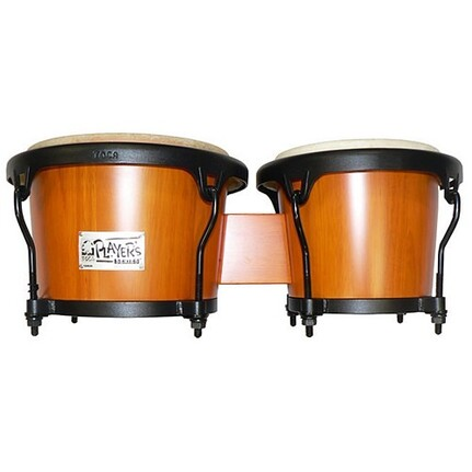"Toca Players Series 7 & 8-1/2"" Wood Bongos  In Amber Stain 2700NEA"