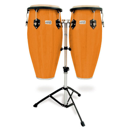 "Toca Players Series 11 & 11-3/4"" Conga Set With Stand In Amber 2801ABS"