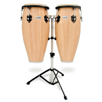 Toca Players 11 & 11-3/4-Inch  Conga Set With Stand In Natural Finish
