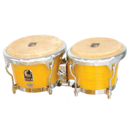 Toca Elite Wood Bongos 7 & 8-1/2-Inch Desert Plains