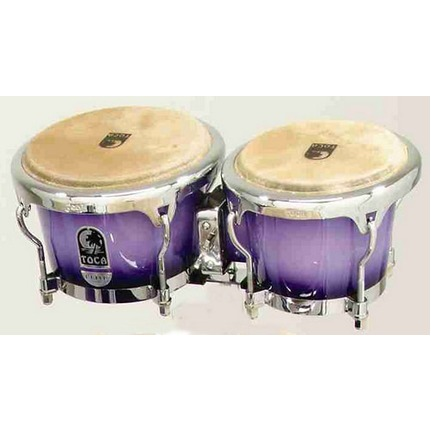 "Toca Elite Series 7 & 8-1/2"" Wood Bongos In Purple Mist 3070PM"
